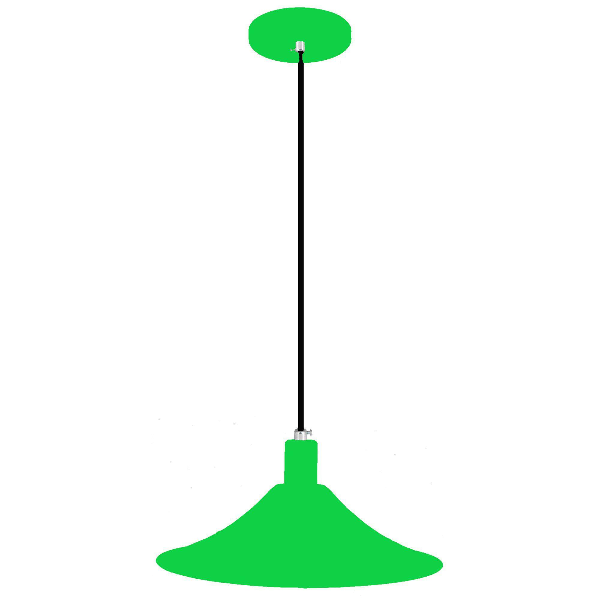 pendente Sciaza  alumínio chapéu chinês verde