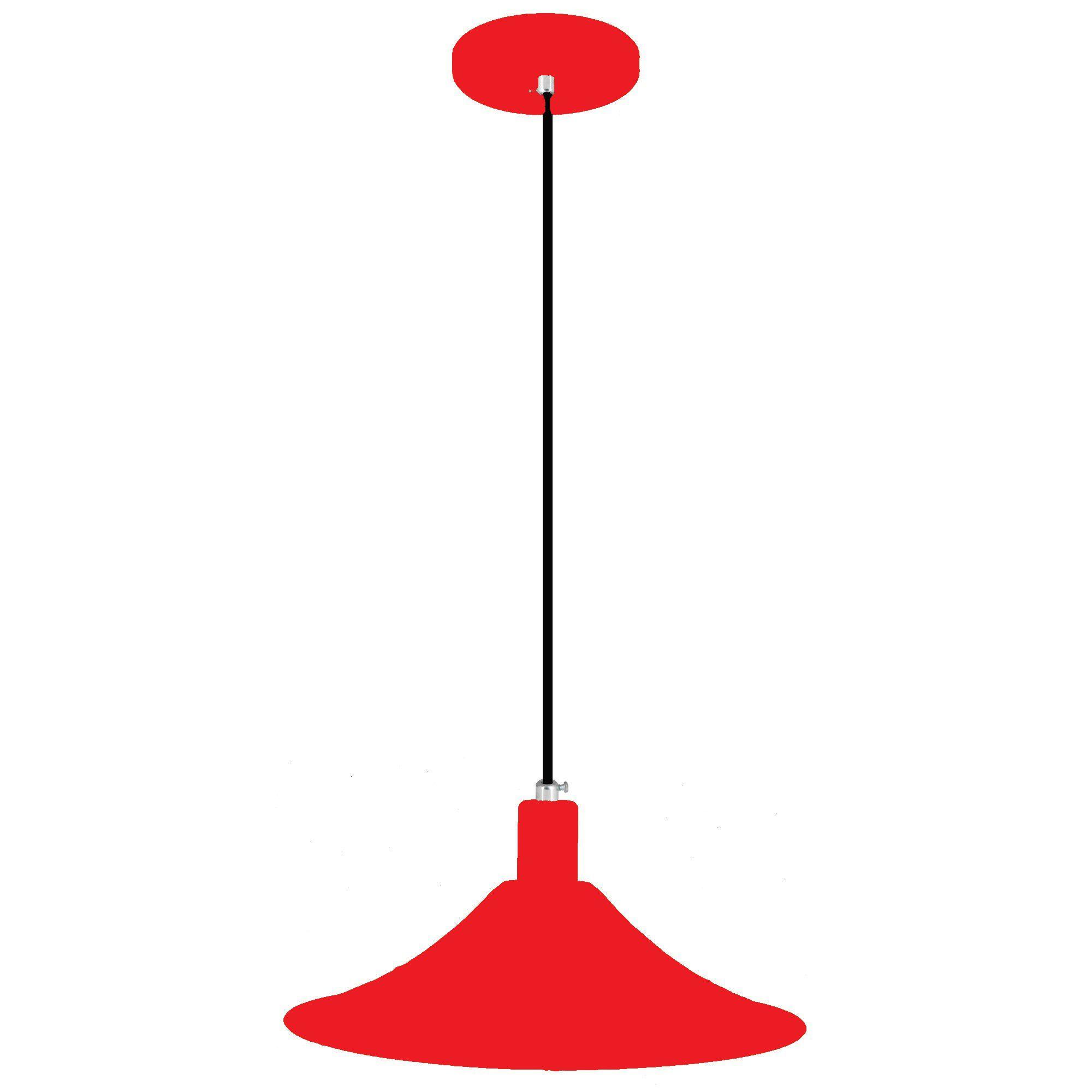 pendente Sciaza  alumínio chapéu chinês vermelho