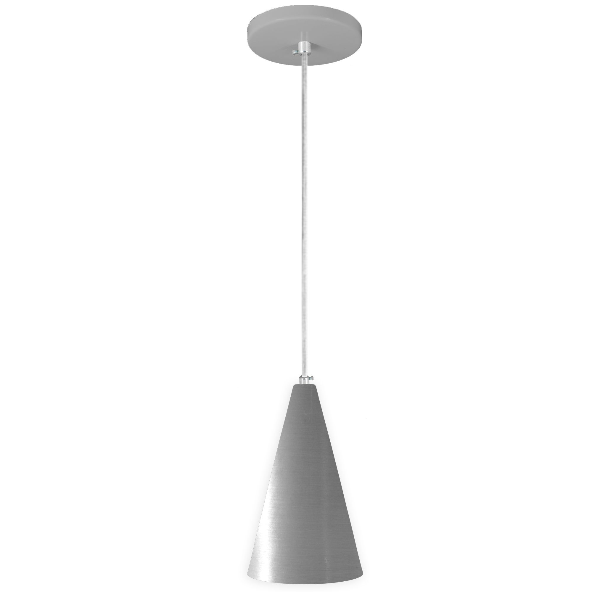 pendente Sciaza  alumínio cone prata  - Multiplus Store