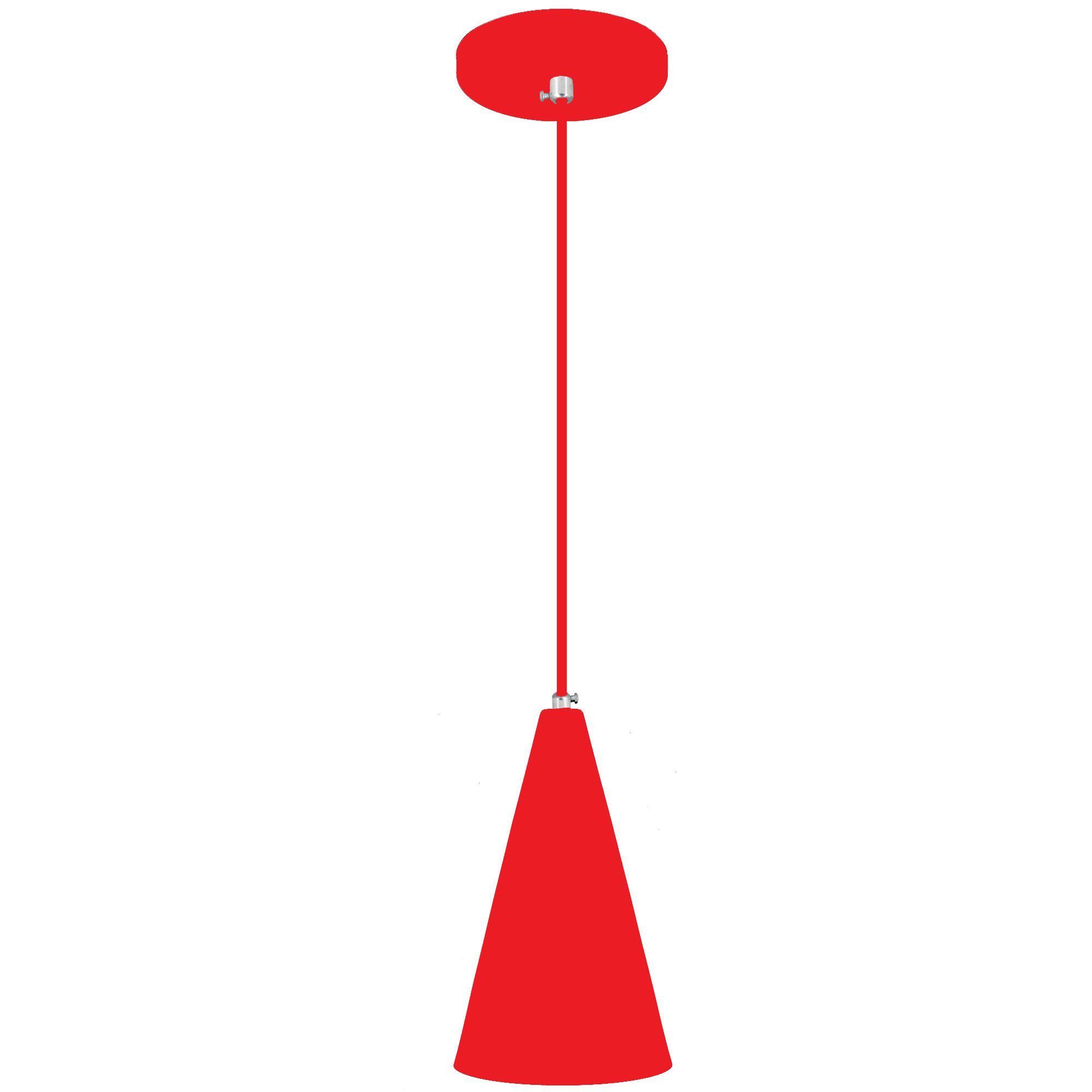 pendente Sciaza  alumínio cone vermelho