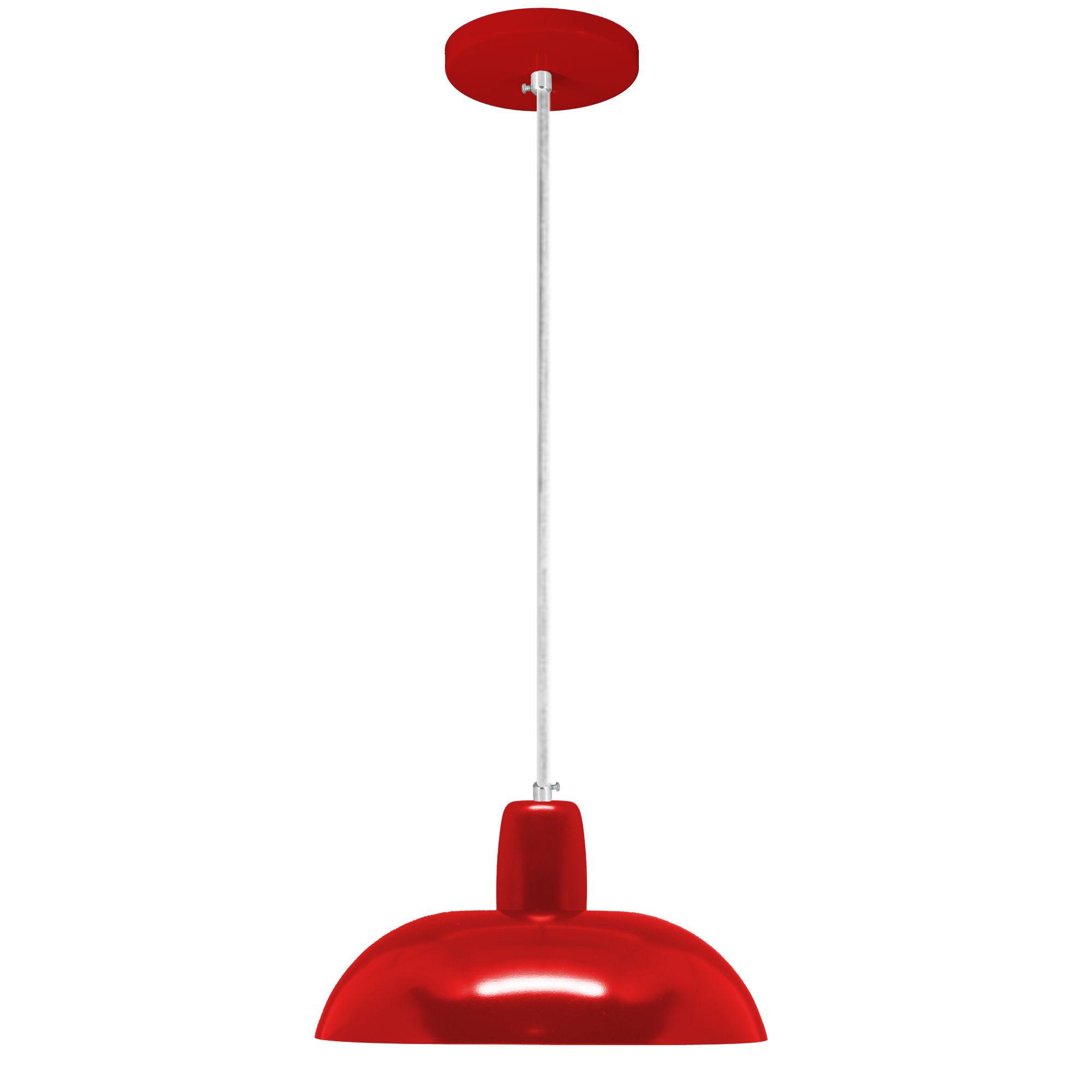 pendente Sciaza  alumínio hat vermelho