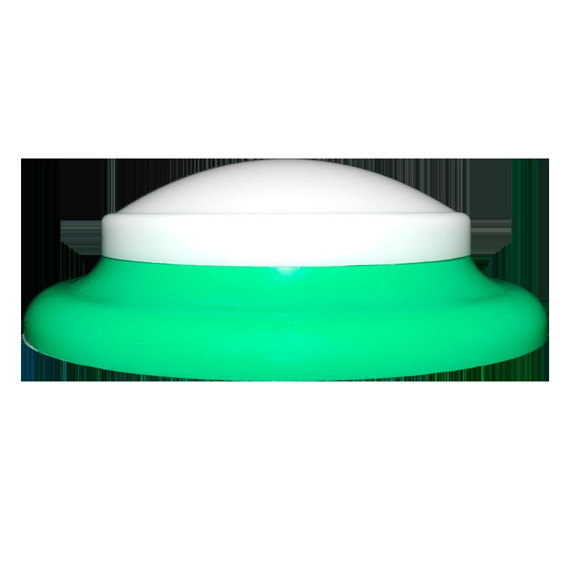 plafon Ideal circular de led sem fixação magn. verde claro