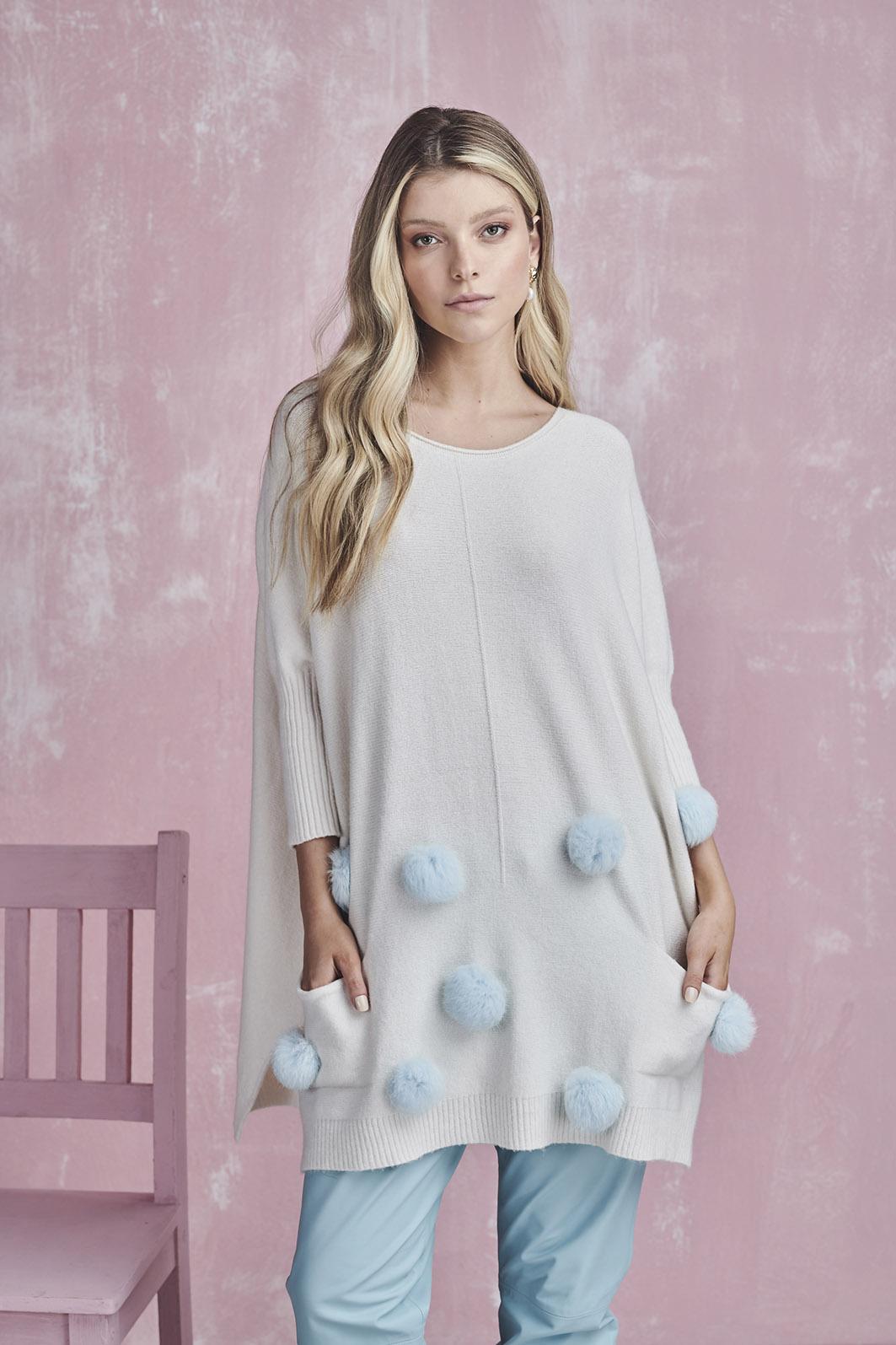blusa louise pompom