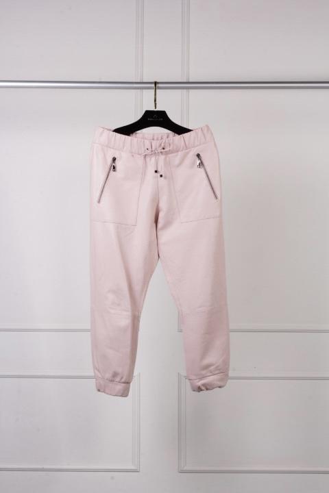 calça jogger rosa bebe