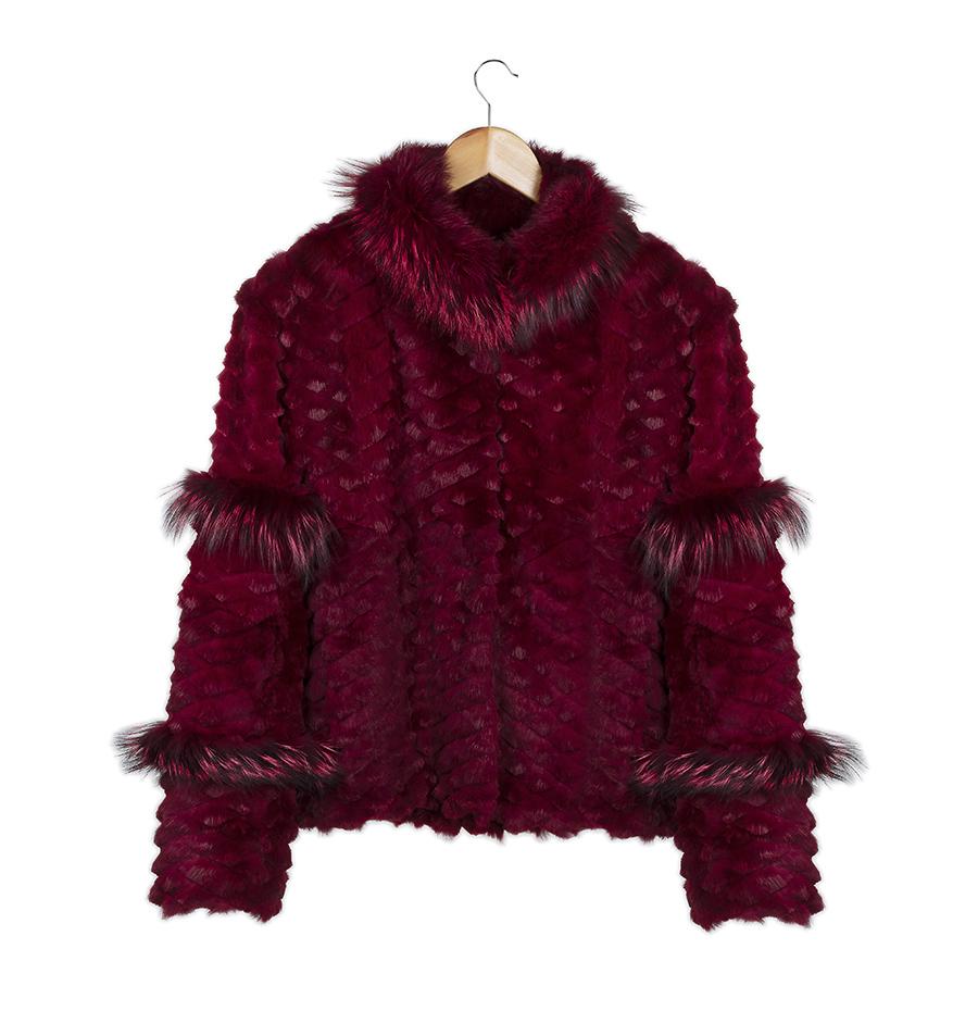 casaco sarah burgundy