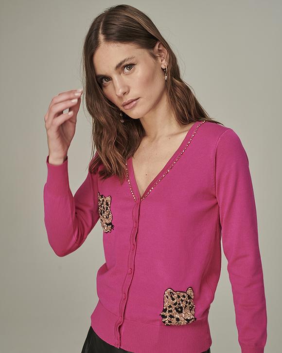 casaqueto onça rosa pink