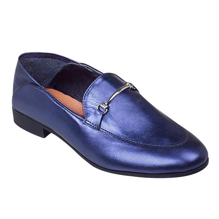 loafer iza azul metal