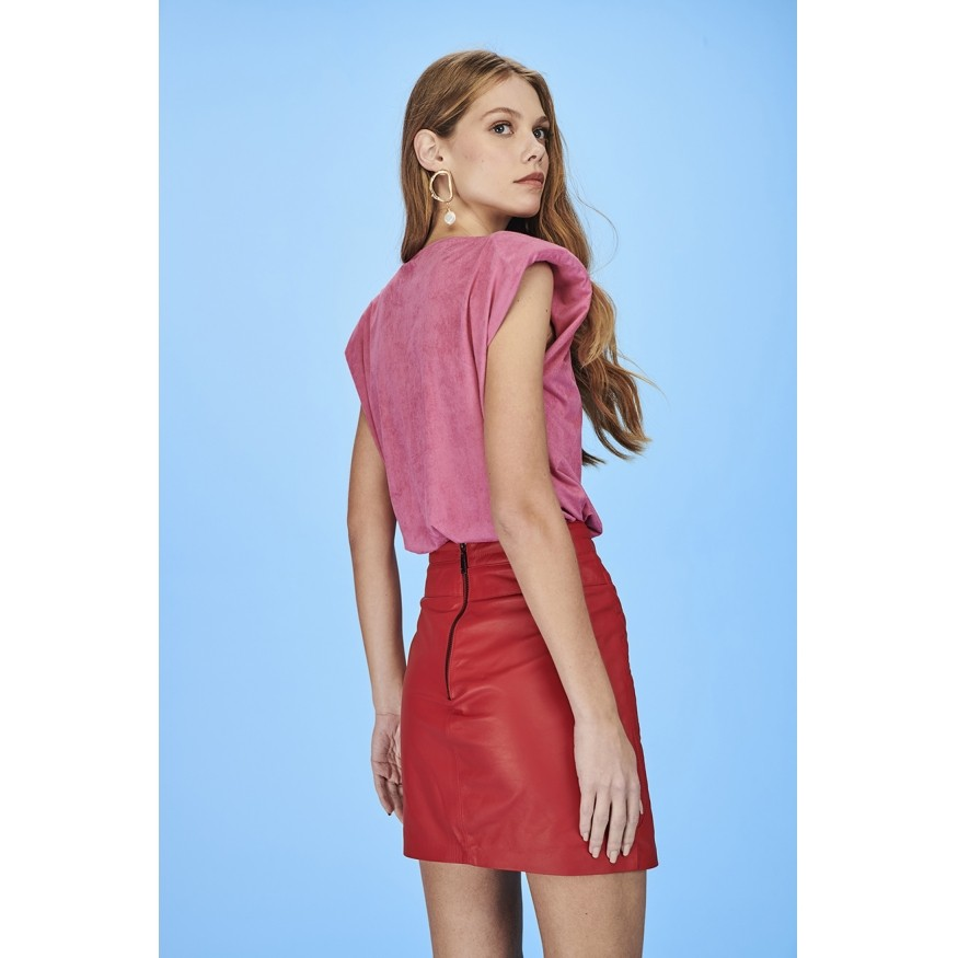 MUSCLE TEE CRAVO SUEDE ROSA