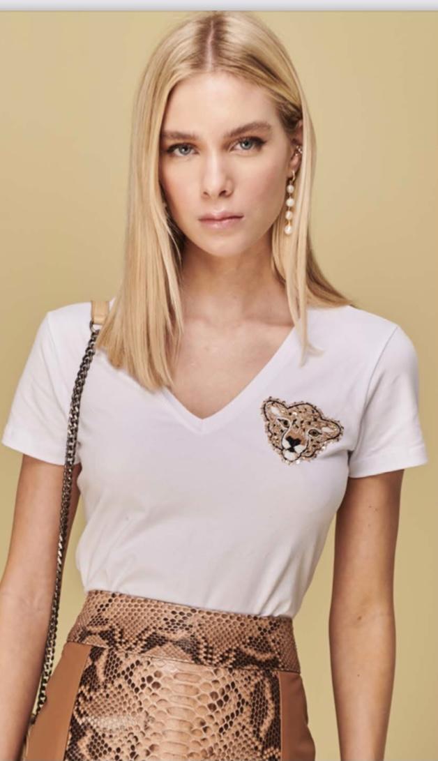 t-shirt guepardo off white