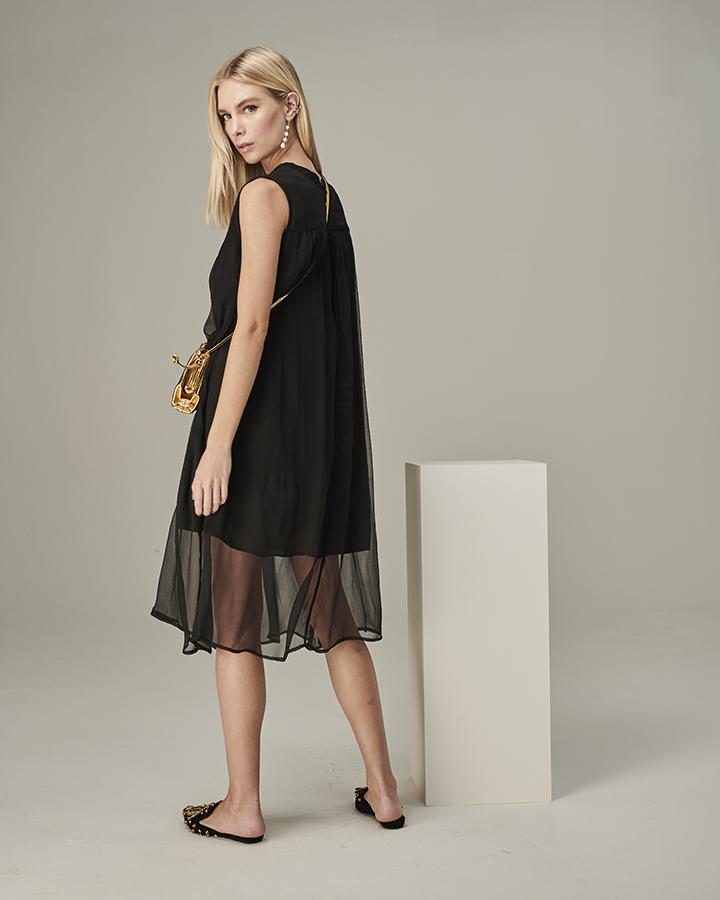vestido anastacia seda preto