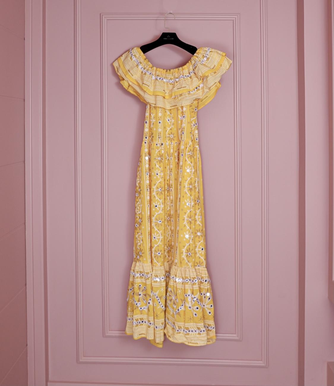 vestido portofino amarelo
