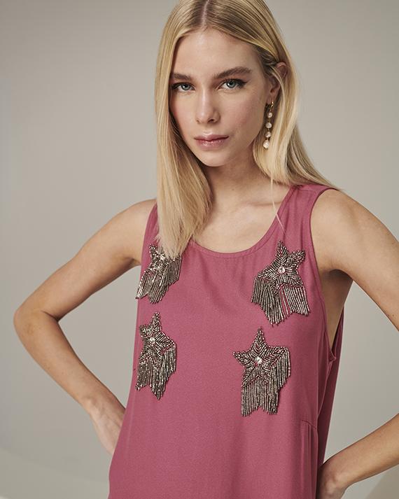 vestido stars rosa