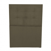Cabeceira Lizz Cama Box Estofada Solteiro 0,90 cm D'classe Decor Suede Marrom Rato