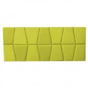 Cabeceira Painel Roma Cama Box Estofada Casal 1,40 cm D'classe Decor Suede Amarelo