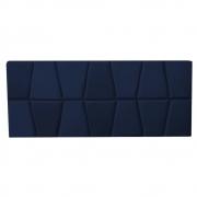 Cabeceira Painel Roma Cama Box Estofada Solteiro 0,90 cm D'classe Decor Suede Azul Marinho