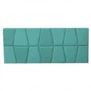 Cabeceira Painel Roma Cama Box Estofada Solteiro 0,90 cm D'classe Decor Suede Azul Tiffany