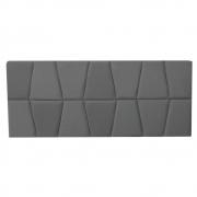 Cabeceira Painel Roma Cama Box Estofada Solteiro 0,90 cm D'classe Decor Suede Grafite