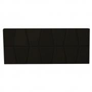 Cabeceira Painel Roma Cama Box Estofada Solteiro 0,90 cm D'classe Decor Suede Marrom