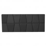 Cabeceira Painel Roma Cama Box Estofada Solteiro 0,90 cm D'classe Decor Suede Preto