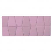 Cabeceira Painel Roma Cama Box Estofada Solteiro 0,90 cm D'classe Decor Suede Rosa Bebê