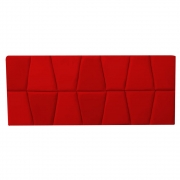 Cabeceira Painel Roma Cama Box Estofada Solteiro 0,90 cm D'classe Decor Suede Vermelho