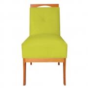Cadeira Estofada Antonela Sala de Jantar Sala Estar Recepção Escritório Salão D'classe Decor Suede Amarelo