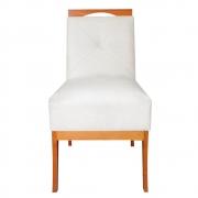 Cadeira Estofada Antonela Sala de Jantar Sala Estar Recepção Escritório Salão D'classe Decor Suede Bege