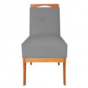 Cadeira Estofada Antonela Sala de Jantar Sala Estar Recepção Escritório Salão D'classe Decor Suede Grafite