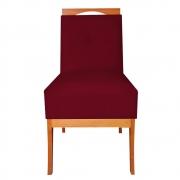 Cadeira Estofada Antonela Sala de Jantar Sala Estar Recepção Escritório Salão D'classe Decor Suede Marsala