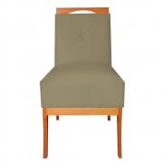 Cadeira Estofada Antonela Sala de Jantar Sala Estar Recepção Escritório Salão D'classe Decor Suede Marrom Rato