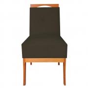 Cadeira Estofada Antonela Sala de Jantar Sala Estar Recepção Escritório Salão D'classe Decor Suede Marrom