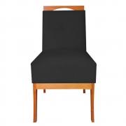 Cadeira Estofada Antonela Sala de Jantar Sala Estar Recepção Escritório Salão D'classe Decor Suede Preto