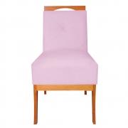 Cadeira Estofada Antonela Sala de Jantar Sala Estar Recepção Escritório Salão D'classe Decor Suede Rosa Bebê