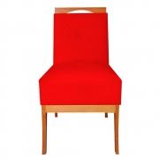 Cadeira Estofada Antonela Sala de Jantar Sala Estar Recepção Escritório Salão D'classe Decor Suede Vermelho