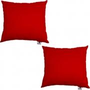 Kit 02 Capas De Almofadas Decorativa Suede Vermelho D09 - D´Classe Decor