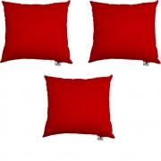 Kit 03 Almofadas Decorativa Com Enchimento Suede Vermelho D09 - D´Classe Decor
