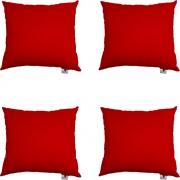 Kit 04 Capas De Almofadas Decorativa Suede Vermelho D09 - D´Classe Decor