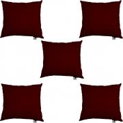 Kit 05 Almofadas Decorativa Com Enchimento Suede Marsala D01 - D´Classe Decor