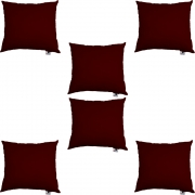 Kit 06 Almofadas Decorativa Com Enchimento Suede Marsala D01 - D´Classe Decor