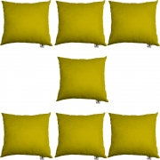Kit 07 Almofadas Decorativa Com Enchimento Suede Amarelo D04 - D´Classe Decor