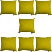 Kit 07 Capas De Almofadas Decorativa Suede Amarelo D04 - D´Classe Decor