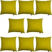 Kit 08 Almofadas Decorativa Com Enchimento Suede Amarelo D04 - D´Classe Decor