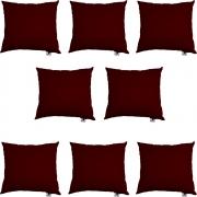 Kit 08 Almofadas Decorativa Com Enchimento Suede Marsala D01 - D´Classe Decor