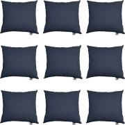 Kit 09 Almofadas Decorativa Com Enchimento Suede Azul Marinho D02 - D´Classe Decor