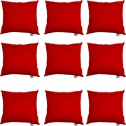 Kit 09 Almofadas Decorativa Com Enchimento Suede Vermelho D09 - D´Classe Decor