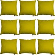 Kit 09 Capas De Almofadas Decorativa Suede Amarelo D04 - D´Classe Decor