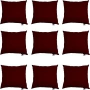 Kit 09 Capas De Almofadas Decorativa Suede Marsala D01 - D´Classe Decor