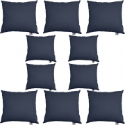 Kit 10 Almofadas Decorativa Com Enchimento Suede Azul Marinho D02 - D´Classe Decor