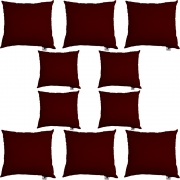 Kit 10 Almofadas Decorativa Com Enchimento Suede Marsala D01 - D´Classe Decor
