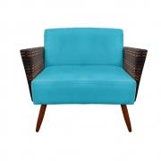 Namoradeira Chanel Decoração Pé Palito Cadeira Escritório Clinica Jantar Sala Estar D'Classe Decor Suede Azul Tiffany